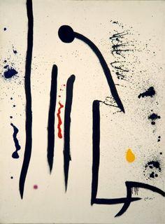 Joan Miró, Personaggio, uccelli, 1974, Acrilico su tela, 129, 2 x 96,5 cm, Barcellona, Fundació Joan Miró © Succession Miró, by SIAE 2010