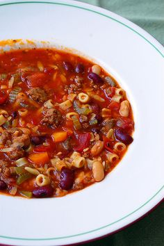 Pasta Fagioli - one of my favorite cold-weather comfort foods.