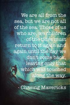 Chasing Mavericks quote so beautiful I had to make this wallpaper for it <3