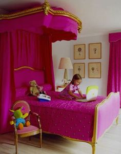 Girls Magenta Pink Bedroom