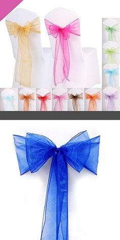 Chair Cover Bows mds pack of 10 satin chair sashes bow sash for wedding and events
