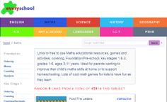 """""""Maths educational resources, games and activities, covering, Foundation/Pre-school, key stages 1 & 2, grades 1-6, ages 3-11 years."""""""