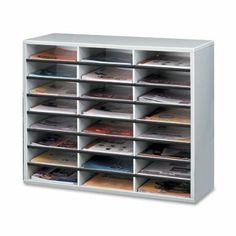 Amazon.com: Fellowes 25041 Literature Organizer - 24 Compartment, Letter, Dove Gray: Office Products
