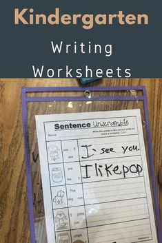 This is part of a large bundle of kindergarten writing worksheets that teach all kinds of writing skills. Kindergarten Language Arts, Kindergarten Centers, Homeschool Kindergarten, Kindergarten Lessons, Homeschooling, Kindergarten Writing Activities, Kindergarten Behavior, Preschool, Writing Skills