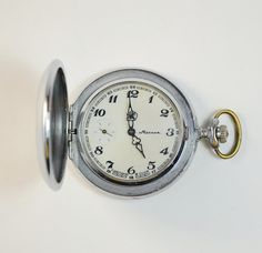 Pocket Watch MOLNIJA  Working Mechanical Men's by GeorgiVintage, $60.00