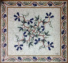 Floral Vine Floor Mosaic - Michael Kruzich