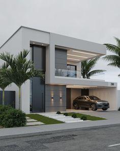 House Arch Design, Architect Design House, House Outside Design, Home Building Design, Bungalow House Design, Modern Small House Design, Modern Exterior House Designs, Dream House Exterior, Modern Roof Design