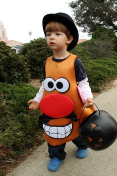 Señor Potato, Potato Heads, Mr Potato Head Costume, Costume Tutorial, Ideas Para, Minions, Halloween Costumes, Craft Ideas, Children