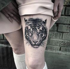 Fluffy Tiger Portrait