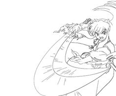 Coloring Pages To Print Inuyasha