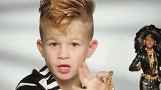 Fierce Fauxhawked Little Boy in Moschino Barbie Commercial Is Here to Destroy Gender Stereotypes  - HarpersBAZAAR.com