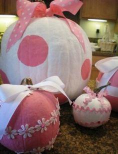 So cute! Pink painted pumpkins by krystal.harrington.10