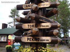 Some distances from Lapland – photo taken in Santa Claus Village in Rovaniemi.