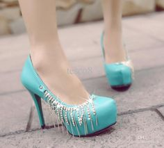 Tiffany blue and silver bow | High heels | Pinterest | Blue and ...