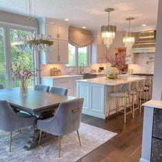 Home Decor Kitchen, Kitchen Interior, New Kitchen, Home Kitchens, Inspire Me Home Decor, Beautiful Kitchen Designs, Beautiful Kitchens, Decor Interior Design, Interior Decorating