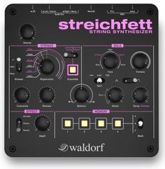 Waldorf's Streichfett combines the best of the previously extinct species of String Synthesizers of the 70s and early 80s