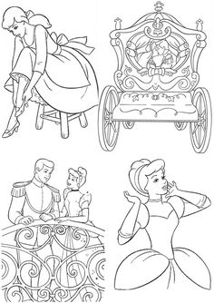 23 Meilleures Images Du Tableau Coloriage Cendrillon Cinderella