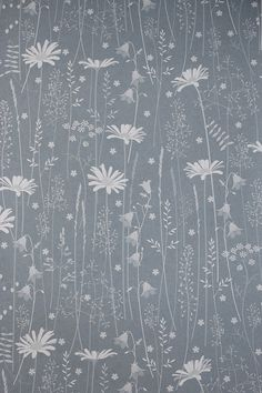 Daisy Meadow is Hannahs latest wallpaper design. It was inspired by the beautiful meadows she saw on a recent trip to Norway. There really were flowers everywhere. It features daisies, harebells, shepherds purse, stitchworts, all sorts of grasses and pignuts. This is a dusky blue, inspired by the colour of the sky behind a beautiful full moon rising. The colour may vary from what you see on the screen so do order a sample for your colour reference. A roll is 10 meters long and 52 cm wide…
