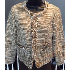 CAbi Jacket Cabi jacket. Gold and cream colored excellent condition. CAbi Jackets & Coats Blazers