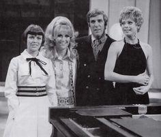 Mireille Mathieu, Dusty Springfield, Burt Bacharach et Juliet Prowse, 1970
