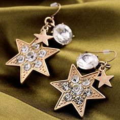 BeOL Vintage Rhinestone Stars Earrings For Women Jewelry Gifts -- Find out more about the great product at the image link.