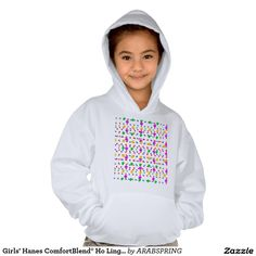 Girls' Hanes ComfortBlend® Ho Lingering Happy Mood Hoodie