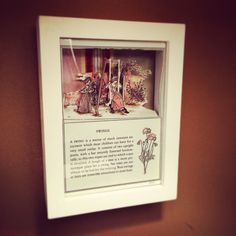 """""""Swings"""" from the Keeping Up With The Victorians Collection {Whimsical Worlds} by Maryann Wohlwend #LiteraryArt #AlteredBook #shadowbox #art #glitter #EmergingArtist"""