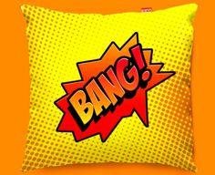Kico - Comic BANG Funky Sofa Cushion 45x45cm - Comic Pop Art Cushions - Funky Cushions - Choose By Product