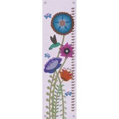 Oopsy Daisy Hummingbird Garden Canvas Growth Charts