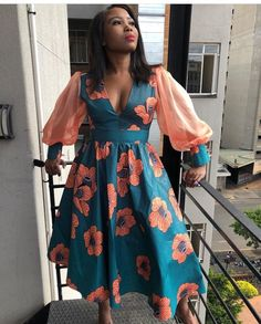 Latest African Fashion Dresses, African Dresses For Women, African Print Dresses, African Print Fashion, Africa Fashion, African Attire, African Prints, Ankara Gown Styles, Ankara Dress