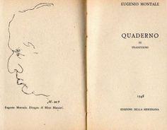 MONTALE Eugenio (Genova 1896 - Milano 1981), Quaderno di traduzioni. Milano, Edizioni della Meridiana, 1948.