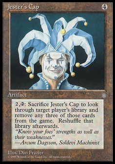 Jester's Cap (Ice Age) - Gatherer - Magic: The Gathering Mtg Decks, Black Deck, Mtg Art, Angel Guidance, Magic The Gathering Cards, Magic Cards, Ice Age, Comic Games, True Art