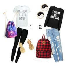 """""""Which of the two would you like to wear today? 1. $44 2.54"""" by myrtedeleeuwe ❤ liked on Polyvore"""