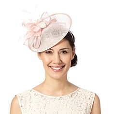 Debut Light pink flower and bow saucer fascinator f05262991a79