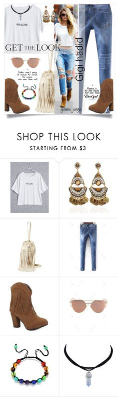 """Gigi Hadid - Get the look"" by goreti ❤ liked on Polyvore featuring 10 Crosby Derek Lam, GetTheLook and rosegal"