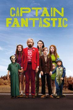 Captain Fantastic Movie Poster - Viggo Mortensen, Frank Langella, Kathryn Hahn  #CaptainFantastic, #ViggoMortensen, #FrankLangella, #KathrynHahn, #MattRoss, #Drama, #Art, #Film, #Movie, #Poster