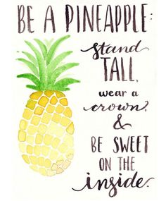 Positive Quotes : QUOTATION – Image : Quotes Of the day – Description Free Watercolor Printable: Be A Pineapple – One Project Closer Sharing is Power – Don't forget to share this quote ! Pineapple Quotes, Cute Pineapple, Pineapple Print, Pineapple Ideas, Images Of Pineapple, Pineapple Watercolor, Pineapple Room, Pineapple Delight, Pineapple Painting