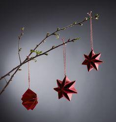 """missdesignsays #allgoodthingsdanish — """"Pleated Stars"""" - brand new hand pleated Christmas..."""