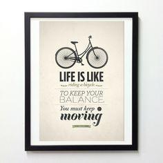 Het leven is als fietsen…