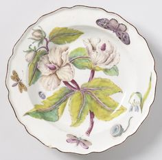1753-56 Plate by Chelsea Porcelain Manufacturing