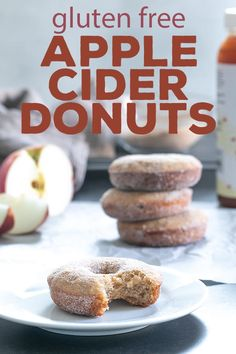 Free Apple Cider Donuts This easy gluten free apple cider donuts recipe is the cure for what ails you when you go to the apple orchard—but can't buy their sweet-smelling baked goods!Easy street Easy Street may refer to: Gluten Free Pastry, Gluten Free Donuts, Gluten Free Sweets, Gluten Free Baking, Dairy Free Recipes, Gluten Free Donut Recipe Baked, Donut Recipes, Dessert Recipes, Lemon Desserts