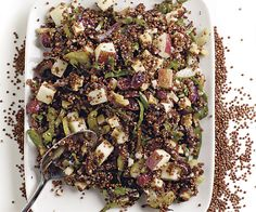Quinoa Salad with Apples, Walnuts, Dried Cranberries, and Gouda