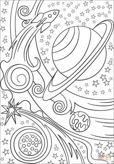 Pop Art Sun Moon And Stars Super Coloring Colouring
