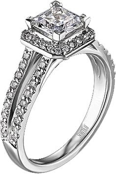Scott Kay Contemporary Collection Pave Diamond Engagement Ring  : This stunning engagement ring  setting is from the Scott Kay Contemporary Collection and features a split shank with pave diamonds. There is a pave diamond halo surrounding the center stone of your choice enhancing its beauty. #lovely