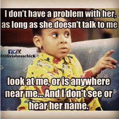 I have two people in mind, we dont have a problem as long as they dont step in the same room as me, its as simple as that.