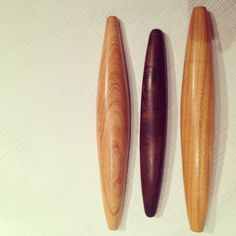 wood turned rolling pins made by Anne Durfee #woodturning