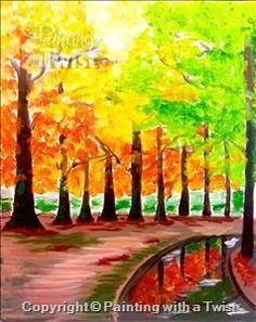Autumn Reflection   11/28/2015 - Painting with a Twist, Farmington, MI