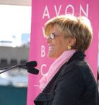Suze Orman, personal financial expert and Special Ambassador for the Avon Foundation for Women, presented grants during the New York Avon Walk's Closing Ceremony.