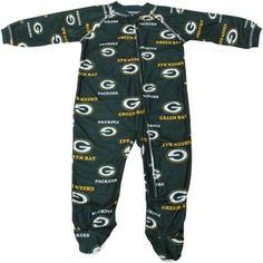 9e9b84011 Green Bay Packers Newborn Full Zip Raglan Coverall - Green