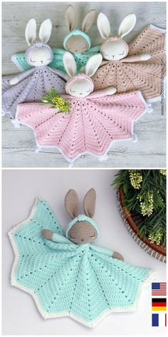 Crochet Penguin, Crochet Baby Toys, Crochet Rabbit, Crochet Baby Booties, Cute Crochet, Crochet Crafts, Crochet Projects, Knit Crochet, Crochet Ideas